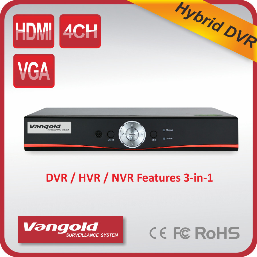 4ch Dahua quality 3G/Wifi 3 in 1 Hybrid DVR Audio Real-time Recording Net Video Recorder