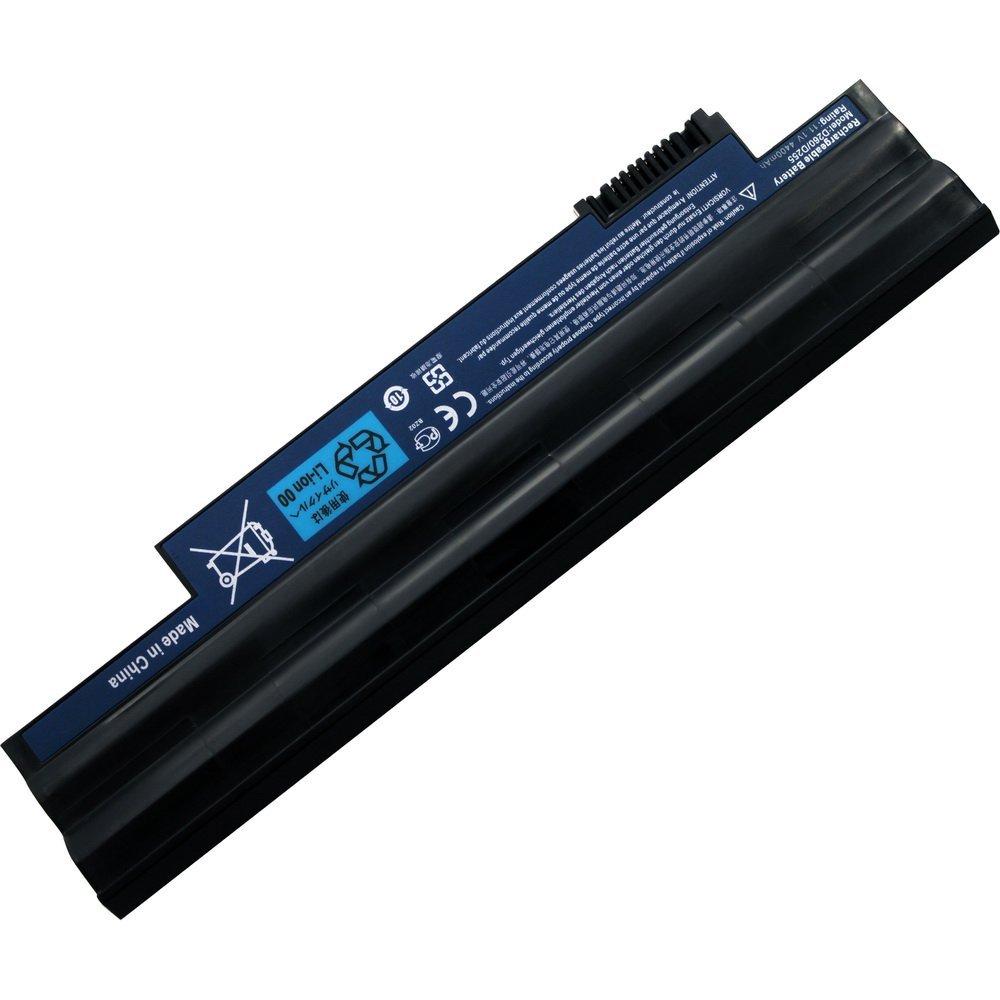Coolgo® New Laptop Battery for ACER Aspire One D260 D255 D255E-1858 D255E-2659 D255E-2677 AOD260-2576 BLACK - 18 Months Warranty 6-cell 5200MAH]