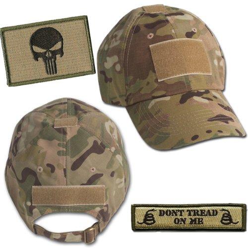 Get Quotations · Punisher Tactical Hat   Patch Bundle (2 Patches + Hat) -  Multicam 6f69ecc1a36