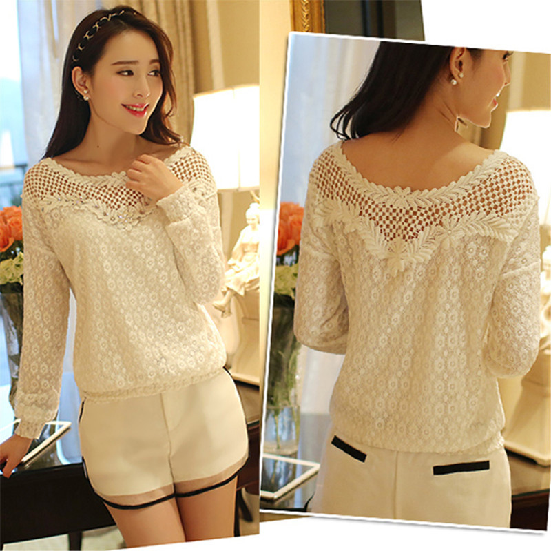 Women's Clothing Beautiful Summer Women Blouses Casual Lace Crochet Blouse Slim Sleeveless Blusas Feminina Tops Shirts Plus Size