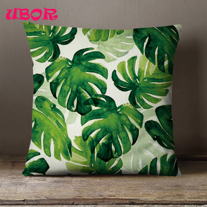 custom digital printing palm tree linen outdoor seat cushion