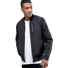 2019 uomini Personalizzate nero <span class=keywords><strong>bomber</strong></span> giacca con zip tasca sul petto