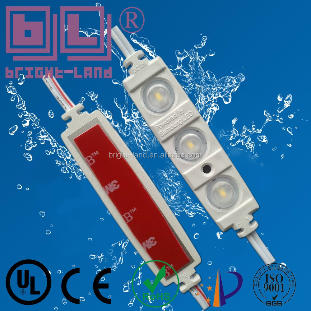 smd 2835 samsung led chip 0.72w 2leds 1.08w 3leds waterproof LED injection module with 3M tape ip68