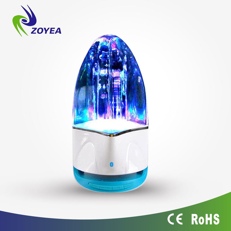New Fashionable Led Light Water Dancing Music Fountain Speakers In Pair For Laptop Smart Phone Game Playing