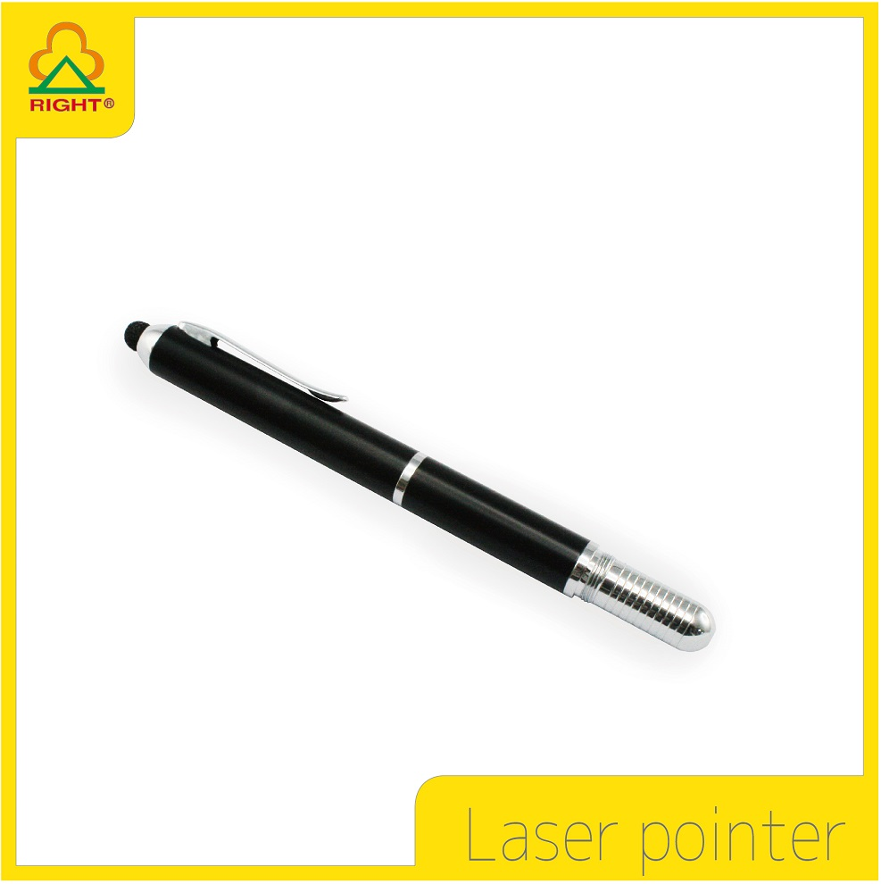 Multi-function laser pointer with ball pen tip and stylus tip