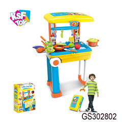 Cooking food 22pcs plastic kitchen play toy set for kids