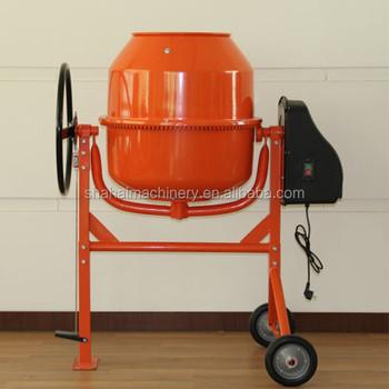 140l small electric mini portable concrete mixer mobile for Cement mixer motor for sale