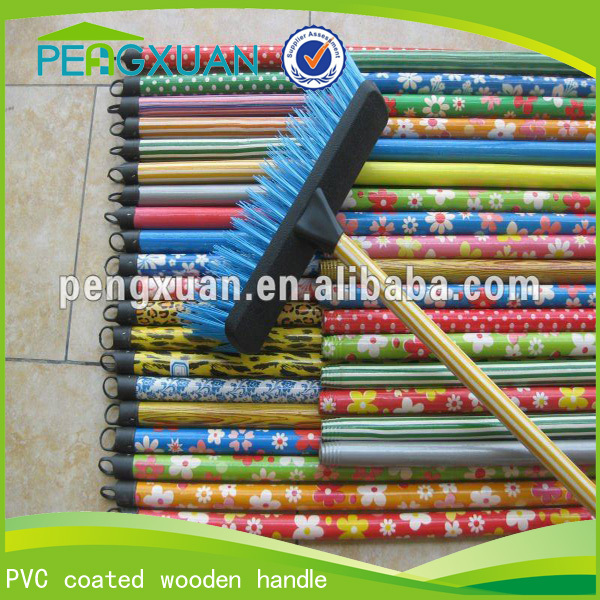 Factory Wholesale brush mop broom pvc coated wooden handle household cleaning product