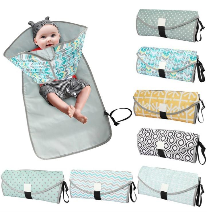 Multifunction Portable Diaper Changing Bag Pad Folding Bag Baby Changing Mat Hot