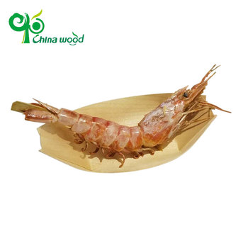 disposable Pine Wooden Boat Plate container
