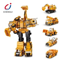 Wholesale 5 in 1 diecast model diy deformation alloy robot toy kids
