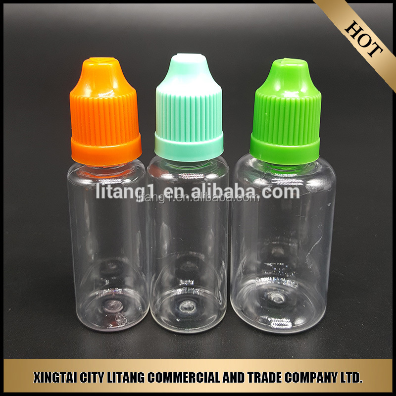 China alibaba of e cigarette liquid 20ml pet plastic bottle with child safty cap and tamper proof cap