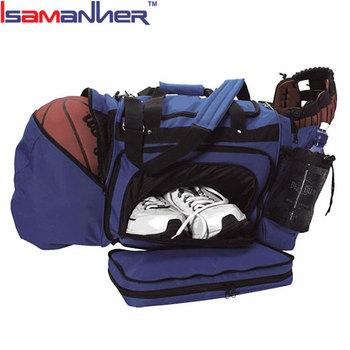 Quanzhou Factory Custom Sport Ball Duffel Soccer Bag With Shoe Compartment Duffle