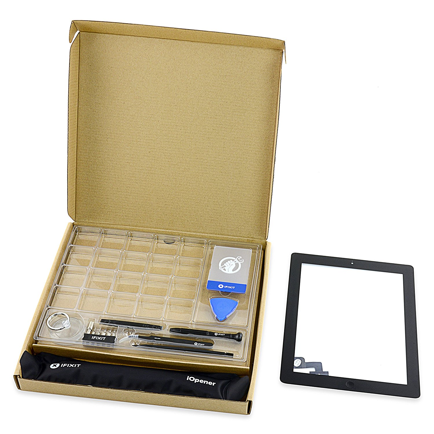 iPad 2 Front Glass/Digitizer Touch Panel Full Assembly - Black