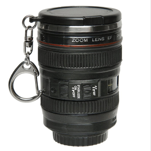 2017 popular Mini Plastic Insulated Tumbler - Camera Lens Drink Cup With Keychain & Lid
