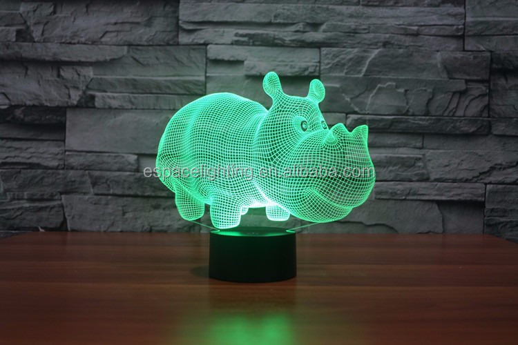 3d led night lamp D0001 color changing led lights
