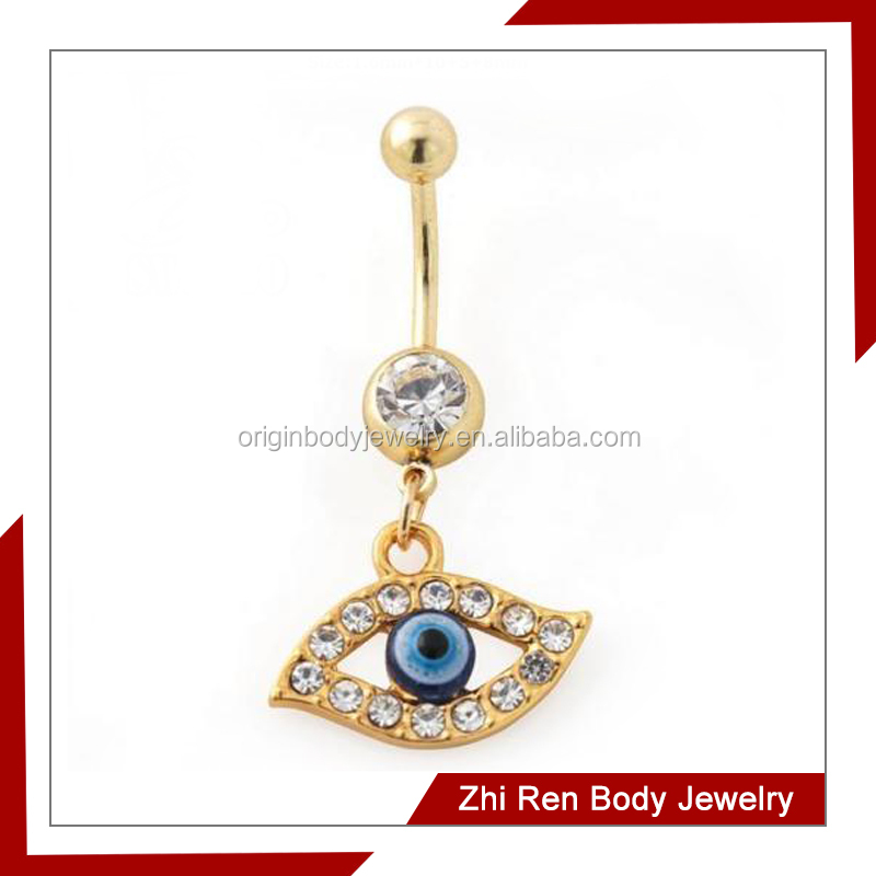 Popular surgical steel evil eyes belly piercing
