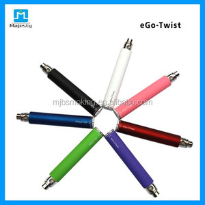 Factory Price Rechargeable Electronic Cigarette ego passthrough battery vaporizer pen ego c twist