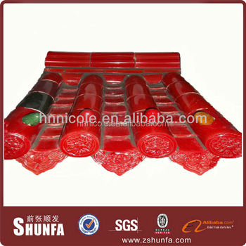 Best Selling Products Heat Glass Tile Red Price Of Roofing