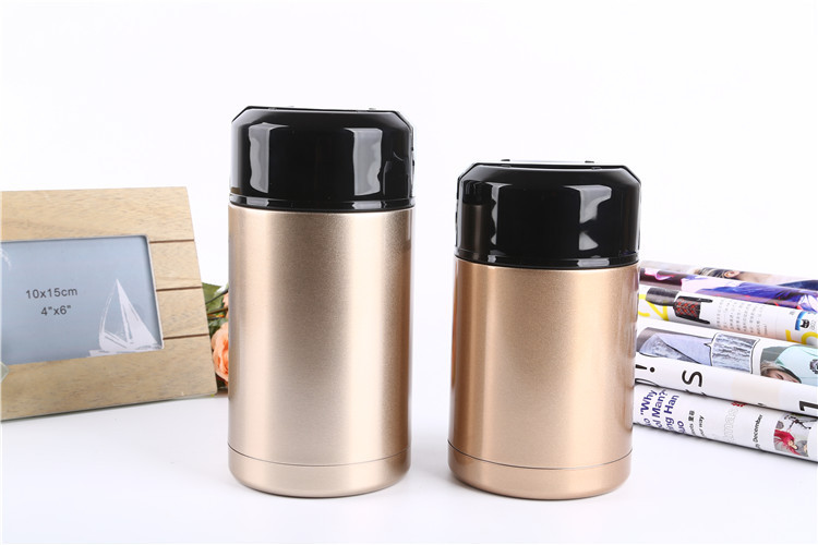 New Business Idea Double Wall Painting Stainless Steel Insulated Lunch Box, Food Storage Container Thermo metal lunch box