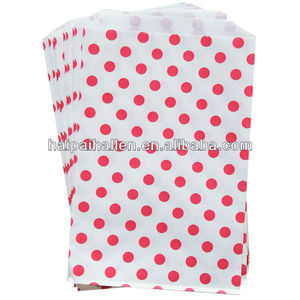 Pink and white polka dots treat favor bags for party goodies