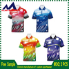 2018 wholesale custom made sublimation Sports fitness apparel dri fit polo shirts