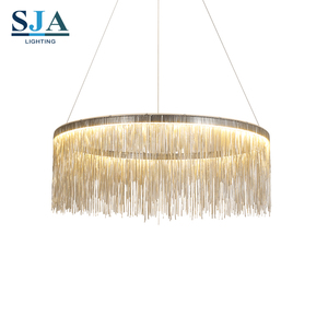 Italy Streams Modern fringed luxury iron chain designer chandelier for decor indoor