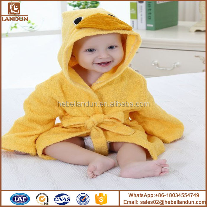 High Quality 100% Cotton suit for 1-2 years old baby Owl Hooded Kids Bath Home robe