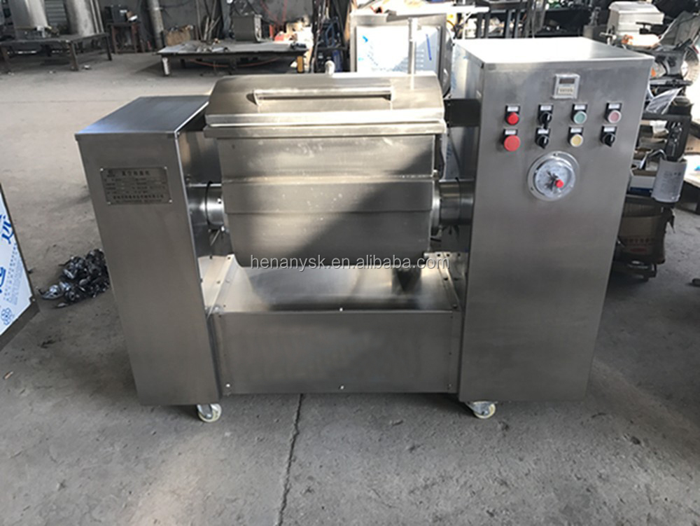 Stainless Steel Easy Operation Commercial 100kg Vacuum Dough Mixer For Processing Flour Products