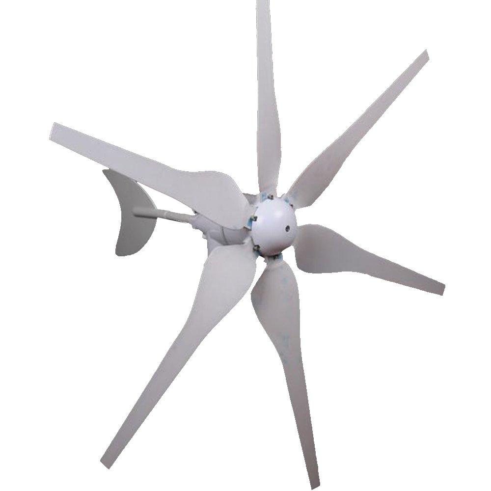 Mophorn Wind Generator 300W DC 12V Wind Turbine High Efficiency Wind Turbine Generator Kit 6 Blades Wind Energy 3 Phase Hyacinth