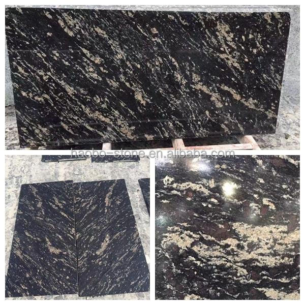 Haobo Natural Stone China Quarry Customized Impressive Titanium Granite available in slab and cut to size tile in stock for sale