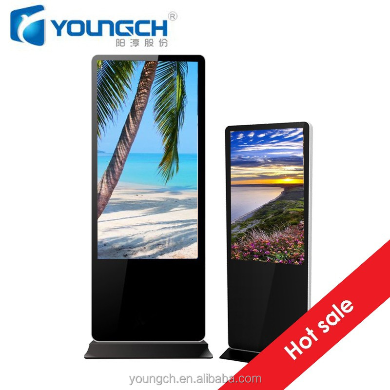 Totem touch screen player that can be used for many multimedia advertising any size custom 55 inch floor stand digital signage