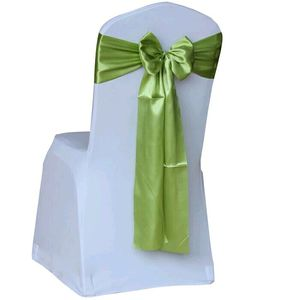 Promotion Cheap New Color Design Satin Chair Covers Organza Sashes wedding decoration