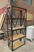 Chinese vintage industrial shelf cabinet- reproduction industrial style furniture