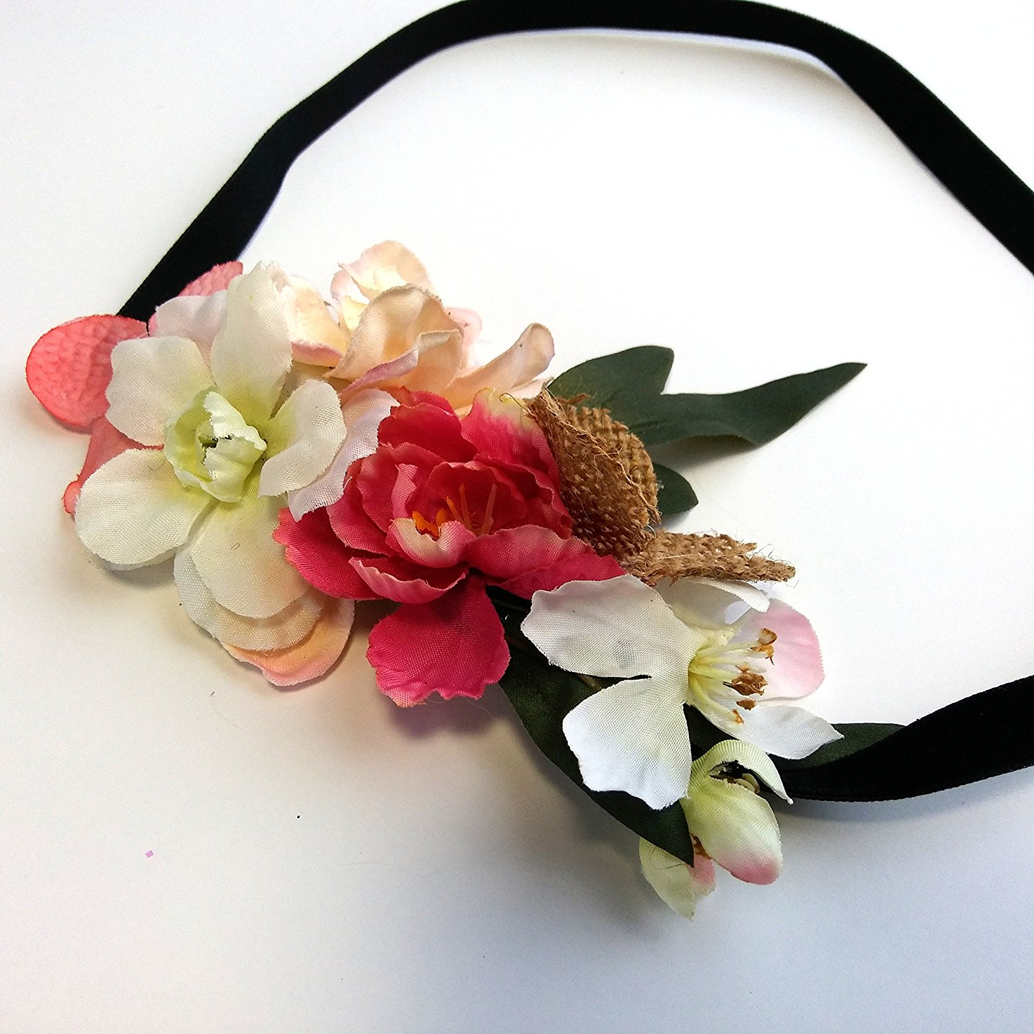 Cheap pink burlap find pink burlap deals on line at alibaba get quotations pink and burlap hair flower headband izmirmasajfo