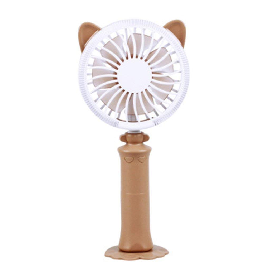 Bokze Protable Mini Fan with Multi-Color LED Light Kid's Summer USB Outdoor Electric Fan for Travel Kursaal Home Classroom