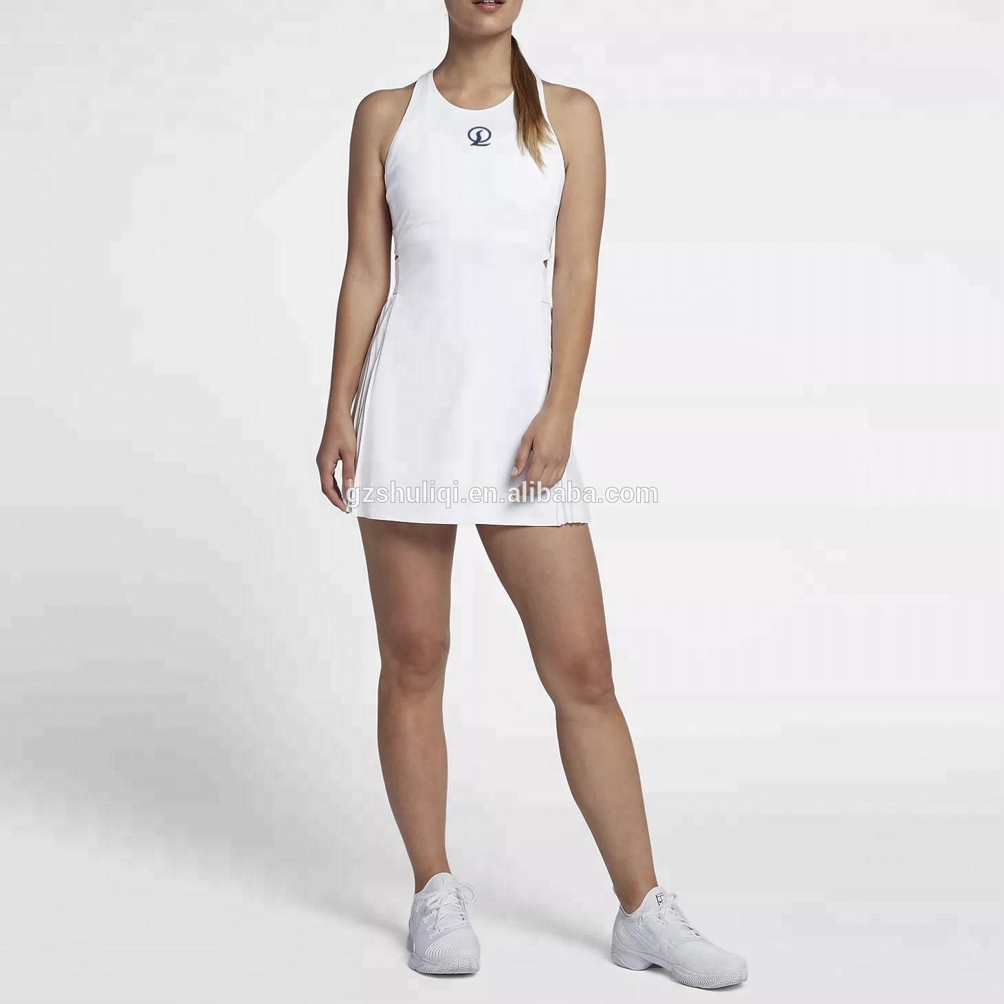 Hot Sales Summer Beautiful Daily Casual Draped Sports Dress With Hollow Out The Waist For Women / Girls SO-33