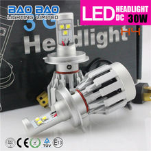 Hot! 25w 2000 lumen jetta cree car h4 led headlight for cars,CREE CHIP,LED ALL IN ONE KIT--baobao lighting