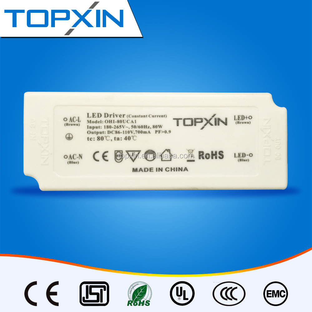 80W 700mA High Voltage/Low Current/High Efficiency Output LED Driver