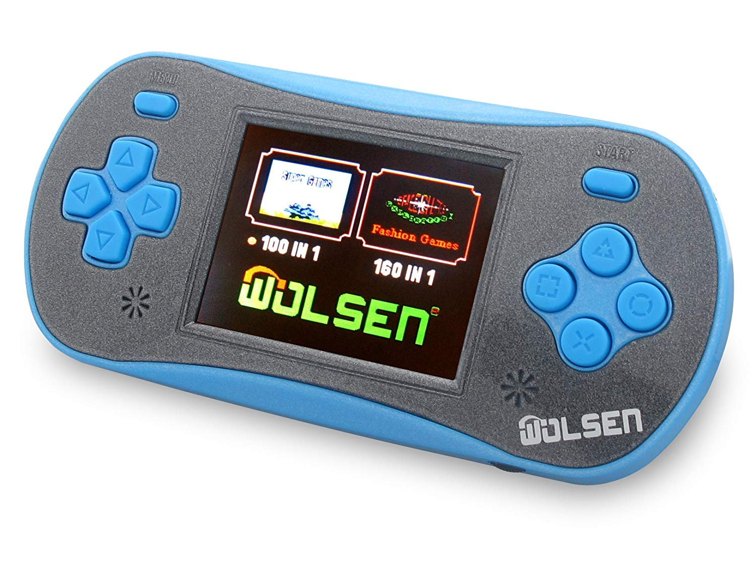 "WOLSEN 2.5"" LCD Portable Handheld Video Game Console Speaker (3 X AAA) 260 in 1 Games (Blue)"