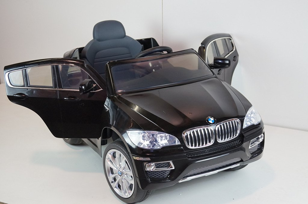 New Licensed BMW X6 12v Kids Ride on Power Wheels Battery Remote Control Toy Car- Black + Gift Mp3 Player