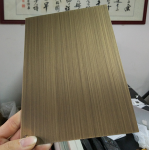 High Quality Stainless steel 304 in PVD bronze HL for lift cladding Sheet material
