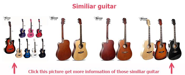 Chine pas cher prix usine personnalisé 40 pouces en bois reliure guitare électrique acoustique