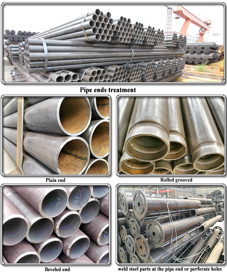 black iron pipe round steel tube with 12 inch to 10 inch