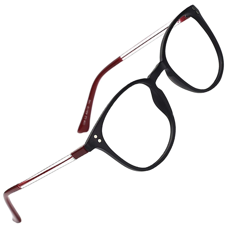 ccc987ff14498 slocyclub Unisex Super Light Keyhole Full Rim Classic Eyeglasses Frame with  Transparent Temples