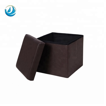Super Faux Leather Folding Smooth Brown Storage Ottoman Cube For Foot Rest Buy Brown Storage Ottoman Smooth Brown Storage Ottoman Folding Smooth Brown Cjindustries Chair Design For Home Cjindustriesco