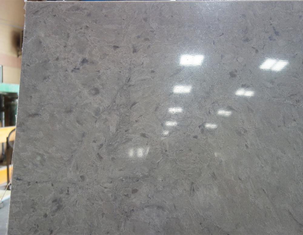 Man Made Quartz Slabs Gray Countertops Living Room Decorative Stone High Quality Orange Countertop