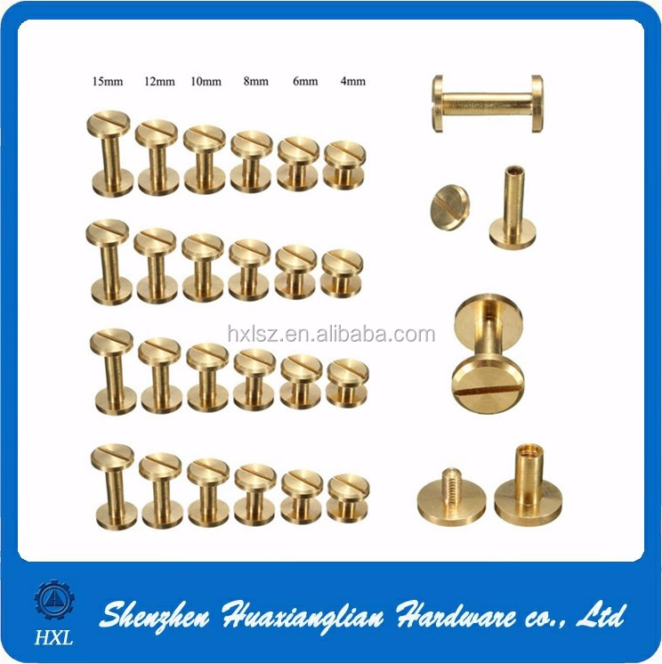 Brass Binding Post Male And Female Chicago Screws For