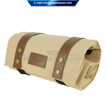 Portable Canvas Roll Up Toiletry Bag For Men Private Label Supplier ... 7ae4006ceca02