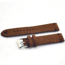 Ремешок для часов KZSD08, коричневый, из натуральной кожи, для мужчин и женщин, 18 мм, 20 мм, 22 мм(Китай)